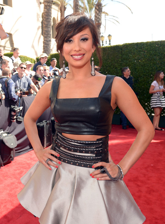 . LOS ANGELES, CA - MAY 01:  Dancer Cheryl Burke attends the 2014 iHeartRadio Music Awards held at The Shrine Auditorium on May 1, 2014 in Los Angeles, California. iHeartRadio Music Awards are being broadcast live on NBC.  (Photo by Jason Kempin/Getty Images for Clear Channel)