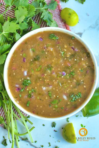 Vegan Mexican recipes - Instant Pot Tomatillo Salsa Verde