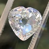 1.06ct Antique Heart Diamond GIA H SI1 2