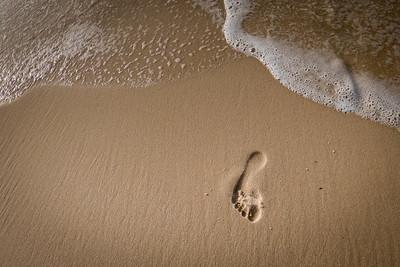 Footprint on Johnson Beach