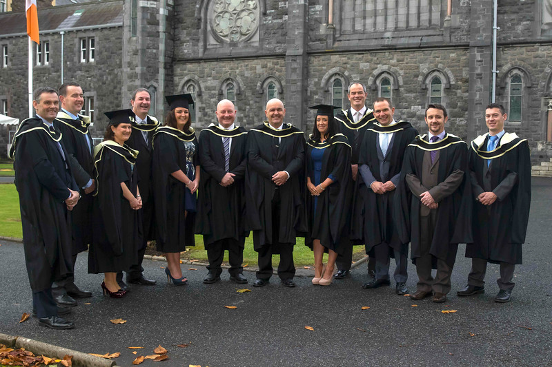 29/10/2015. Waterford Institute of Technology Conferring. Pictured are Paul Byrne, Michael Healy, John Cahill, Chris Dawkins, Sarah Collins, Dierdre Moylan, Michelle Gleeson, John Moran, Stephen McGrath, Gerry Forristal, Damien Walsh and Pat Powerwho graduated Master of Business. Picture: Patrick Browne
