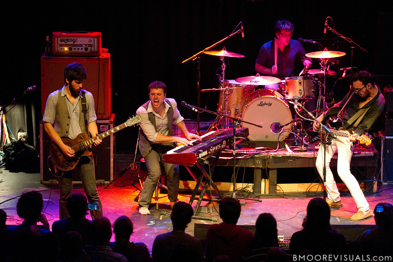 Saen Fitzgerald, Dan Nigro, Cliff Sarcona, and Julio Tavarez of As Tall As Lions perform on May 2, 2010 at State Theatre in St. Petersburg, Florida