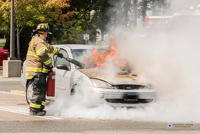 Car fire Marshfield center