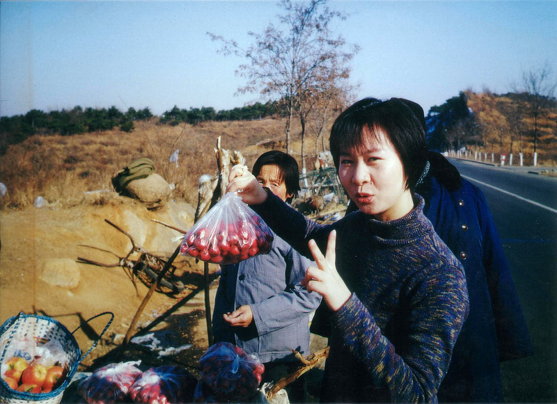 2 RMB for crab apples on the way to Simatai Great Wall - winter 1997 Winter at the Great Wall at Simatai - January 1997 and again 1998