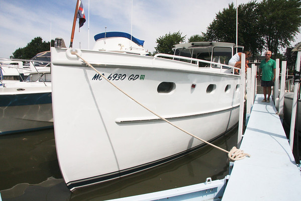 Legacy, a 1945 powerboat visits Vermilion, July 19-22, 2010