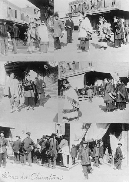 Six scenes in Chinatown, ca.1900