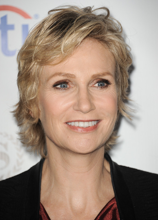 . Jane Lynch arrives at the Academy of Television Arts & Sciences Performers Peer Group Reception at the Sheraton Universal Hotel on Monday, Aug. 19, 2013 in Universal City, Calif. (Photo by Richard Shotwell/Invision/AP)