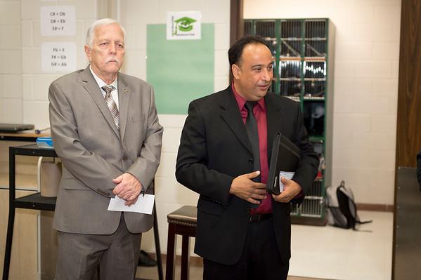 Check Presentation at Pasadena High School