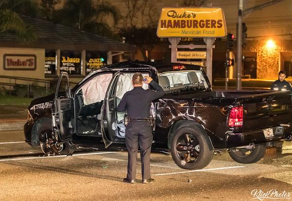 Santa Ana SigAlert Traffic Collision - January 2nd, 2017