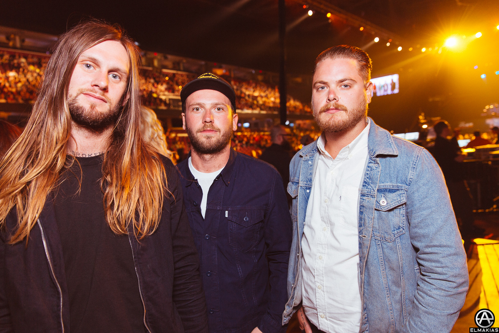 Lawrence Taylor, Sean Long, and Aaran Mckenzie of While She Sleeps at the APMAs 2015 by Adam Elmakias