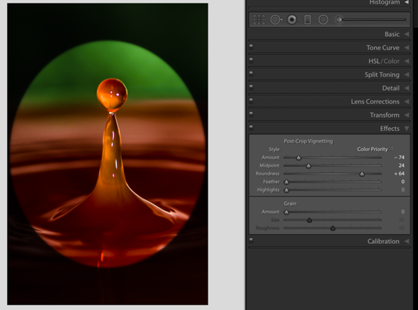 Color Priority for a bold colored image with a dark Vignette