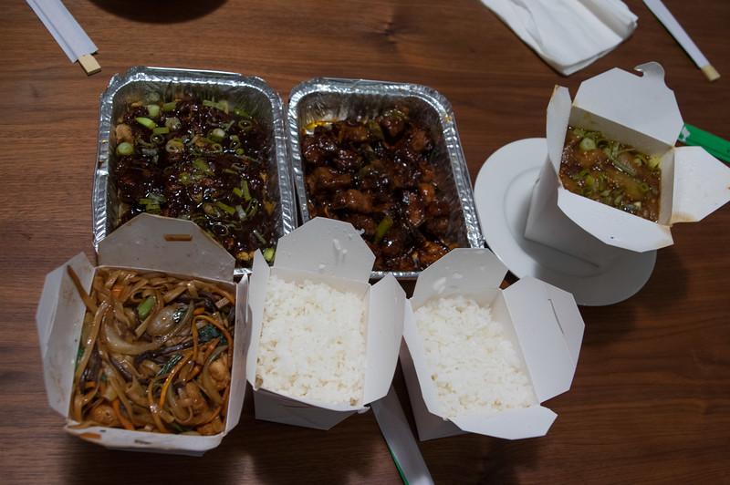 chinese take-away. it was...okay...