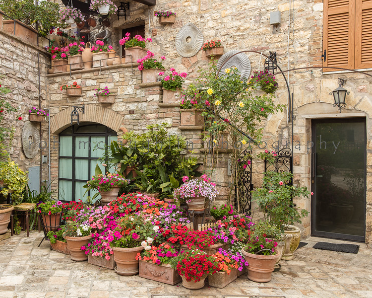 Floral Front , Assisi , Umbria