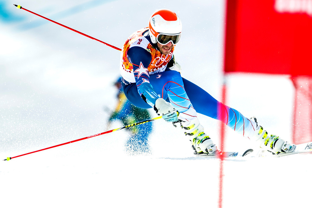 . KRASNAYA POLYANA, RUSSIA  - JANUARY 19: Bode Miller competes in the Men\'s Giant Slalom at Rosa Khutor Alpine Center during the 2014 Sochi Olympics Wednesday February 19, 2014. Miller finished in 20th place with a time of 2:47.82.   (Photo by Chris Detrick/The Salt Lake Tribune)