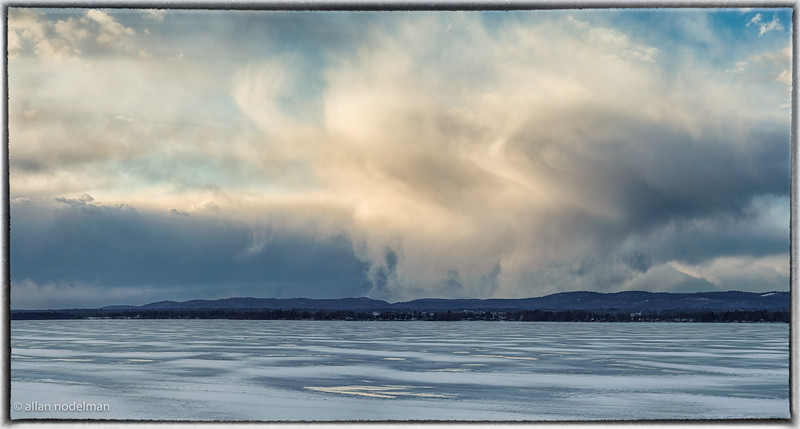 Constance Bay Clouds Over the Icy Ottawa River