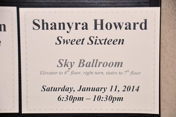 Shanyra Sweet Sixteen Party Jan 11, 2014