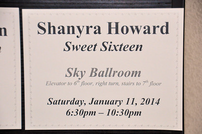 Shanyra Sweet Sixteen Party Jan 11, 2014