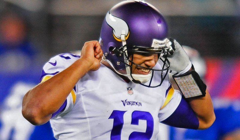 """. <p>2. JOSH FREEMAN <p>From moment he said he was �a hair off� Monday night, it was obvious he was suffering from a brain injury. (2) <p><b><a href=\'http://www.twincities.com/sports/ci_24361471/vikings-josh-freeman-qb-grade-worst-ever-by\' target=\""""_blank\""""> HUH?</a></b> <p>    (Pioneer Press: Ben Garvin)"""