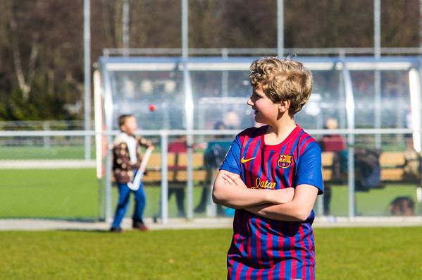 20120325 - Trainen schoolvoetbal