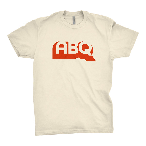 Organ Mountain Outfitters - Outdoor Apparel - Mens T-Shirt - Big Red ABQ Tee - Natural.jpg