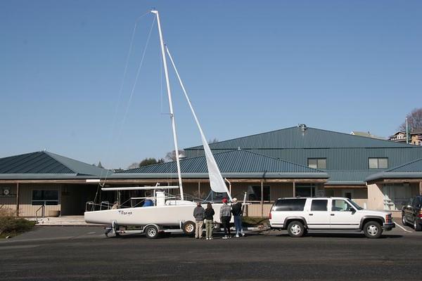 Tikanga test sail in Bellingham Bay