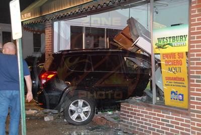 Westbury F.D. MVA w/ Car Into Building 480 Maple Ave. 9/28/11