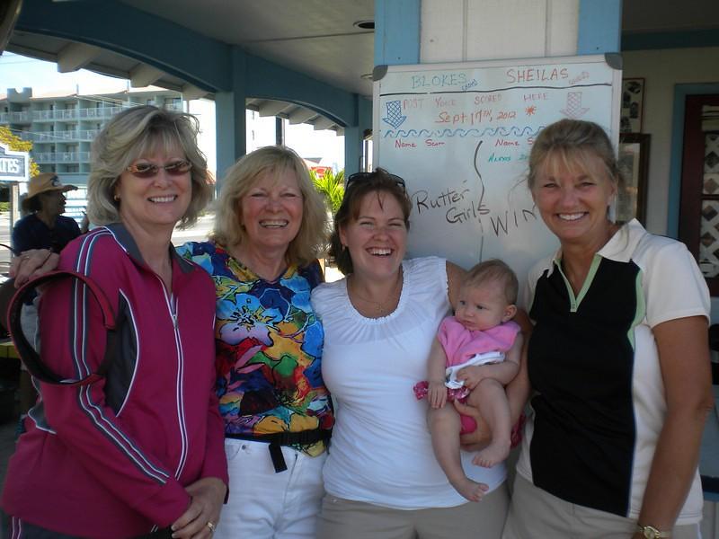 Kay, Trish, Julie, Lexi, Erna Putt Putt 2014