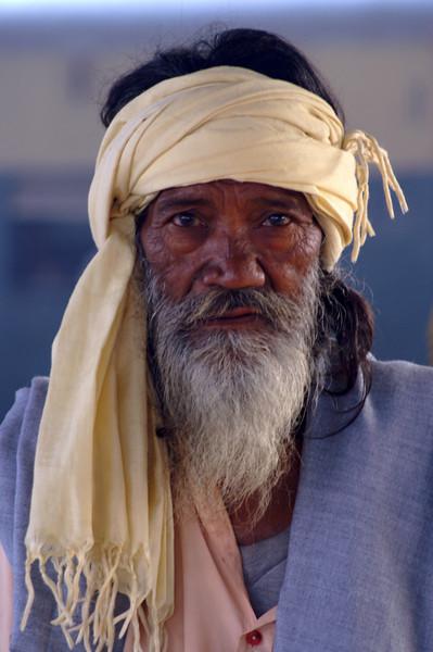 Elderly Man, Agra Fort Railway Station