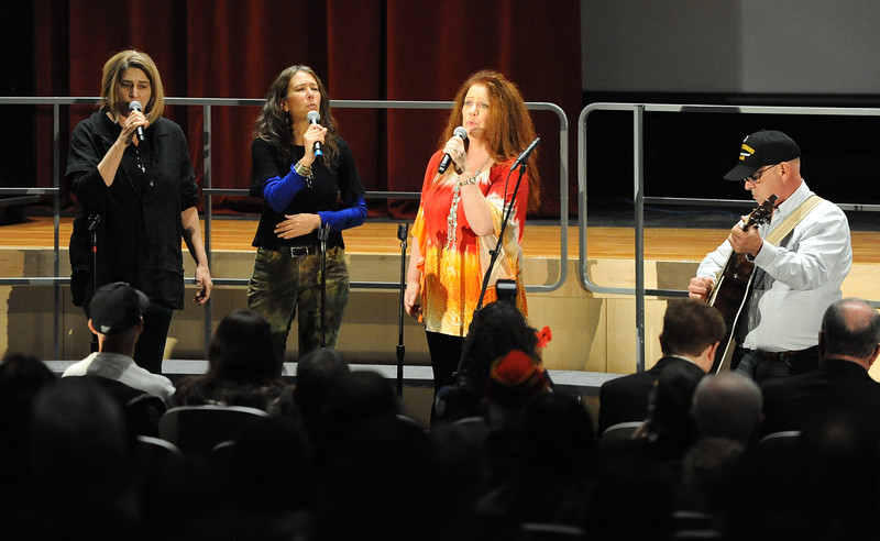 Ladies of the Island perform two songs. Phillipsburg area veterans Sunday, Nov. 11, 2018  were honored during the 21st annual William L. Nixon tribute. Hundreds attended the event at Phillipsburg High School in Lopatcong Township, in which the U.S. Department of Veterans Affairs has honored as a regional site for the observance of the commemoration.