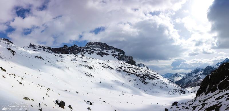 Vallone di Verra, ascending to the Mezzalama hut