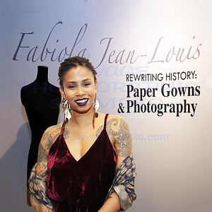 Fabiola Jean-Louis Rewriting History~Paper Gowns & Photography 11-3-17