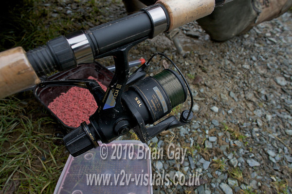 Shimano reel loaded with 5 lb reel line.  © 2010 Brian Gay