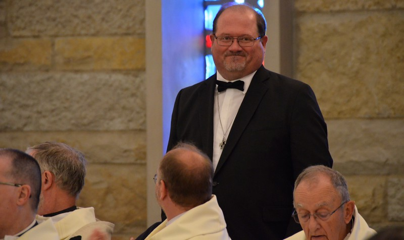 Br. Duane is congratulated on his anniversary