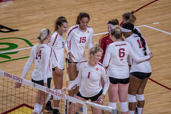 ISU Volleyball vs South Dakota 08/17/18