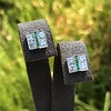 Art Deco Diamond and Emerald Disc Earrings 40