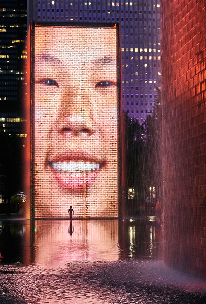 Crown Fountain in Millennium Park, Chicago