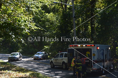 20130918 - Cold Spring Harbor - Car Vs Pole