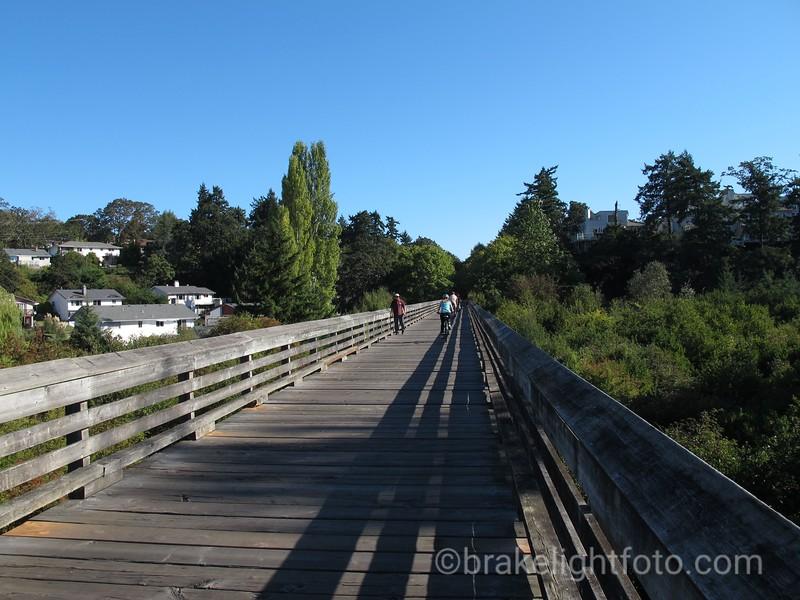 Biking Lochside Trail