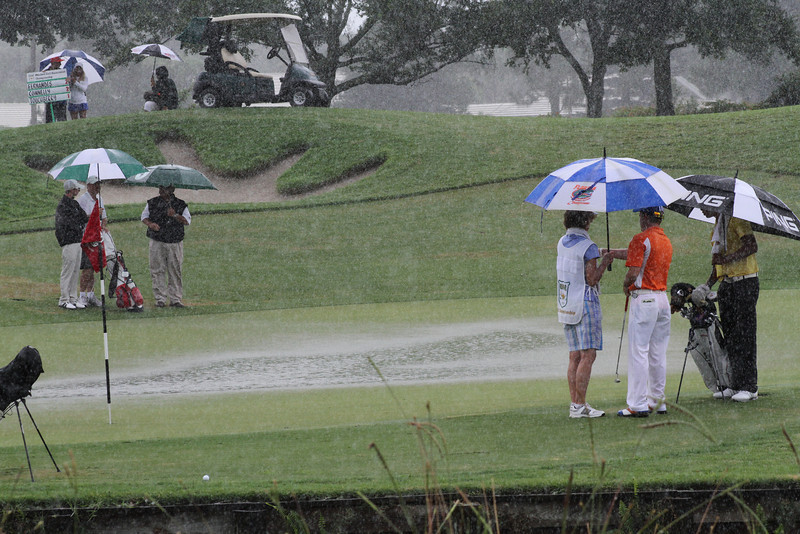A heavy downpour during the final round halted play for 20 minutes, but the Country Club of Florida drained beautifully and efficiently enough for the players to finish the round.