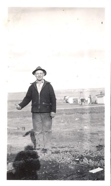 Granpa Ben attending the field