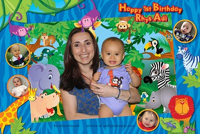 Rhy's 1st Birthday (Green Screen Party Portraits)