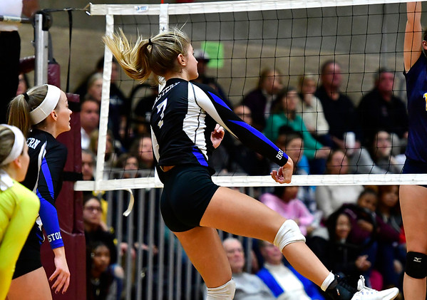 11/14/2018 Mike Orazzi   Staff Bristol Eastern's Zoe Lowe (7) during the Class L Semifinal State Girls Volleyball Tournament held at Windsor High School Wednesday night.