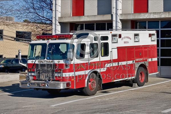 Waltham,Mass. Rescue 6 & Ladder Co 2