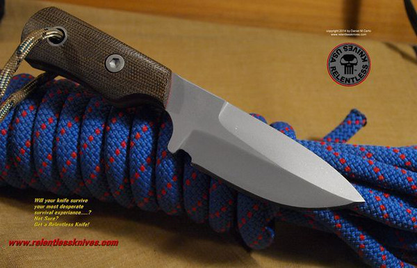 Relentless Knives M1 SubCompactr Custom Military Survival knife