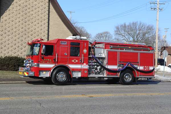 Lyons Fire Department Funeral Service For Retired Assistant Chief Charles J. Scheffel