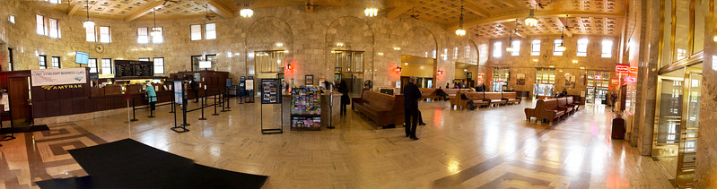 ... and a panorama of the inside of Union Station