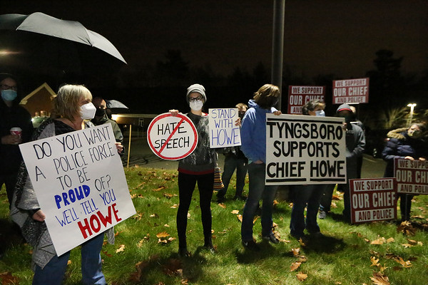 Tyngsboro police chief Howe protest 111220