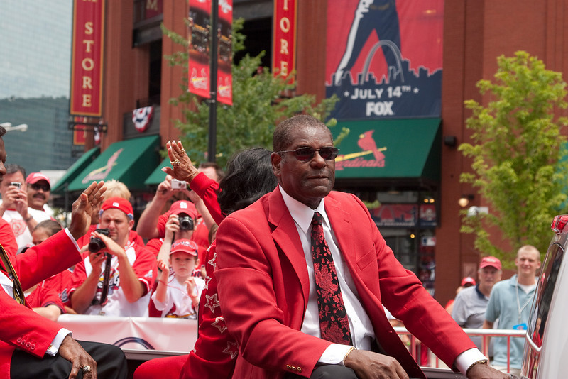 "Bob Gibson, Cardinals Hall of Famer, 2009 MLB All Star Game ""Red Carpet Show"", St. Louis, MO"
