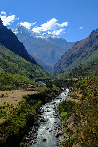Urubamba River & Mount Veronica