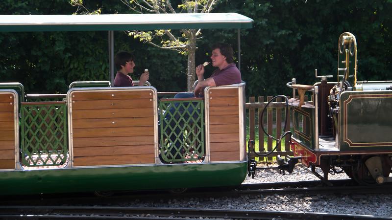 Hot work driving a steam train